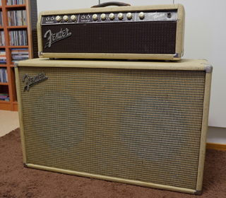 Fender Bandmaster 6G7-A head and cabinet, 1962